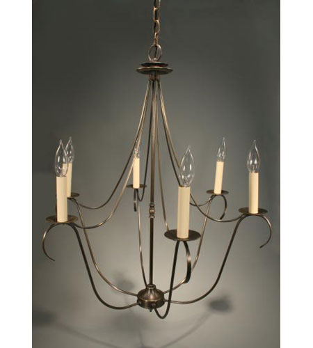 Northeast Lantern Signature 6 Light Chandelier in Dark Antique Brass 959-DAB-LT6 photo